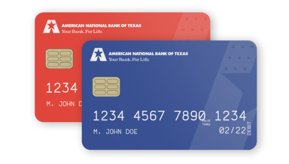 Debit Card American National Bank Of Texas